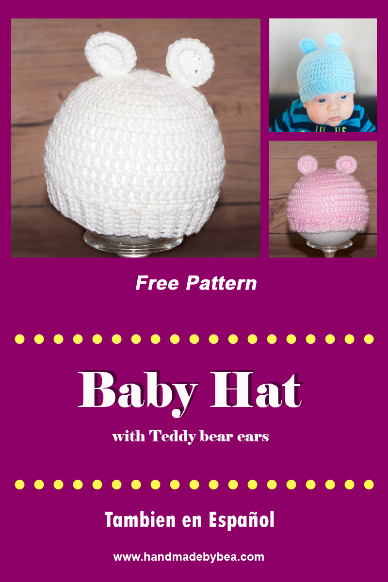 Easy Baby Hat With Teddy Bear Ears